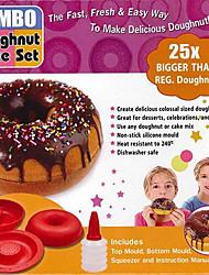 grand géant gâteau de dount fabricant ailicone haut moule silicone 4.8x2x4.8inch