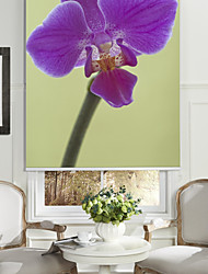 Botanic Style Violet Orchid Roller Shade