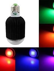rgb licht LED lamp met afstandsbediening - wit zwart (AC90 ~ 260V) 420lm 7w e27