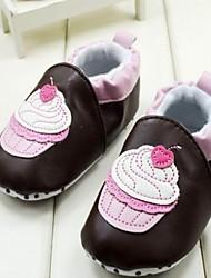 Leer Girl's Flat Heel ronde neus Instappers met Gore en Slip-on Schoenen