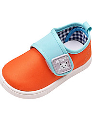 J&TOO Comfort Color-matching Flat Heel Canvas Loafers with Magic Tape Chirldren's Shoes(More Colors)