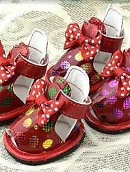 Perros Zapatos y Botas Rojo / Negro / Beige Verano Cuero PUPerro Zapatos
