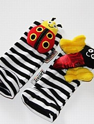 Baby Feet Rattles Black Soft Toys