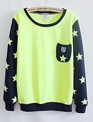 Women's Stars Pocket Round Collar Sweatshirts
