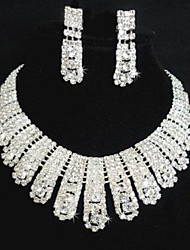 Jewelry Set Women's Wedding / Party Jewelry Sets Alloy / Rhinestone Rhinestone Necklaces / Earrings Silver