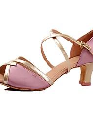 высокие каблуки Латинской настроены женские индивидуальные пятки атлас танца обувь (больше цветов)