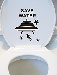 Cartoon Spacecraft Toilet Posted Toilet Sticker