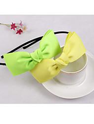 Black Ribbon Bow Hair Hoop Headband Double-Fine Hair Bands Random Delivery