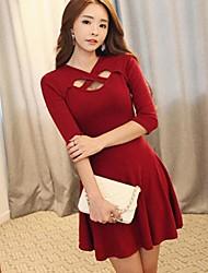 Women's Cross Neck Pleated Mini Dress