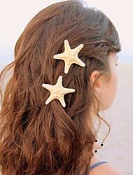 Lucky Doll Women's Bohemia Vintage Elegant Nature Starfish Hair Clip Single