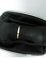 5 Speed Shift Knob Chrome PU Leather Boot for VW Golf Bora Jetta MK4 New