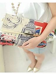 Womens Vintga Cartoon Printing Handbag  Shoulder Bag Messenger Bag Recreation Bag
