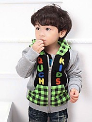 Langsha® Cute Boys Gray Fleece Zipper-up Long Sweater with Hoods Coats and Jackets
