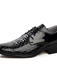 Men's Shoes Office & Career/Casual/Party & Evening Leather/Patent Leather Oxfords Black/White
