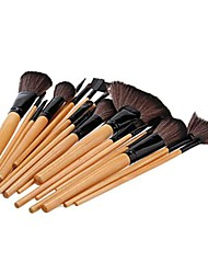 24 Makeup Brushes Set Nylon / Others / Pony / Horse Wood Face / Lip / Eye Others