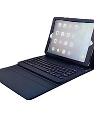 For Case Cover with Stand with Keyboard Flip Full Body Case Solid Color Hard PU Leather for iPad Air