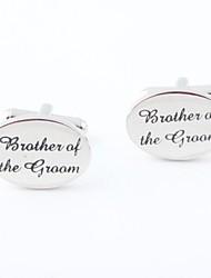 "novio / padrino de boda ""hermano del novio"" gemelos de bronce"