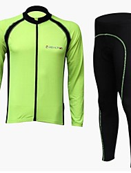 REALTOO Men's Cycling Clothing Sets/Suits Long Sleeve Bike Spring / Autumn Breathable / Quick Dry M / L / XL / XXL / XXXL