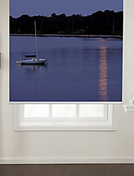 Photographic Art Style Lone Boat Roller Shade
