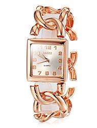 Женские Японский кварц Кварцевый Японский кварц Нержавеющая сталь Группа Винтаж Элегантные часыСеребристый металл Золотистый Розовое