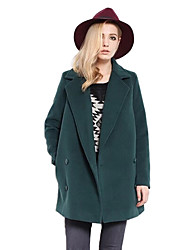 Solid Color Fashion Long Sleeve Coat_9