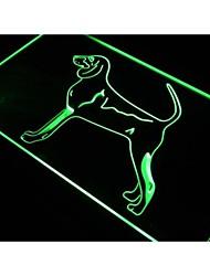 j500 Black & Tan Coonhound Dog Pet Neon Light Sign