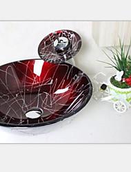 вино красный круглый раковина закаленное стеклянный сосуд с waterfull набора крана