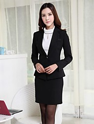 Women's Lapel Slim Temperament  Professional Suit (Blazer+Skirts)