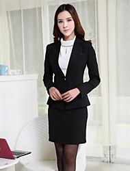 Women's Lapel Slim Temperament  Professional Suit (Blazer+Skirts)