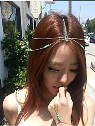 mode turquoise chaîne pépite couronne de cheveux accessoires pour cheveux