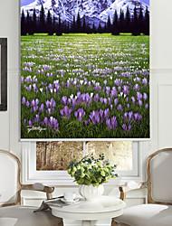 huile style de peinture réaliste neige montagne&fleurs rouleau ombre