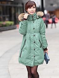 Skymoto®Women's 90% White Duck Down Plus Size Down Jacket