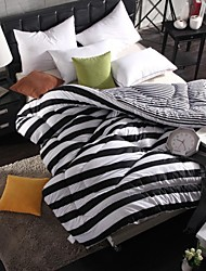 Shuian® Comforter Winter Quilt Keep Warm Thickening  Quilts with Black and white