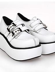 White PU Leather  8CM  Platform Punk Lolita Shoes