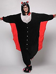 kigurumi Pyjamas Chauve souris Collant/Combinaison Chaussons Fête / Célébration Pyjamas Animale Halloween Noir Mosaïque Toison de Corral