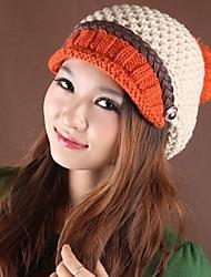 tresses chics de femmes sorts de couleur bonnet de laine