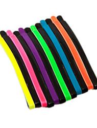 palavra pasta cor fluorescente ondulado macarrão clipe hairpin bate 24 pcs entrega aleatória