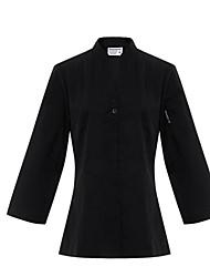 ресторанах униформа 3/4 рукав официант блузки с застежкой