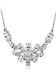 Women's Cubic Zirconia/Brass/Vermeil Necklace Wedding/Daily Cubic Zirconia