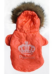 Dog / Cat Hoodie Orange Winter Tiaras & Crowns