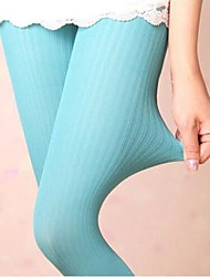 Coway Thin Vertical Stripes of Bamboo Charcoal Velvet Pantyhose Leggings(Assorted Color)