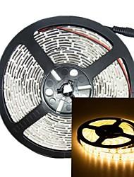 500cm 75w 300x5050 SMD LED 3000-3600lm 3000-3500K DC12V IP68 lumière de bande imperméable à l'eau blanc chaud