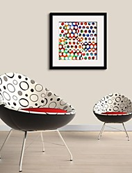 Colored Dots  Framed Canvas Print
