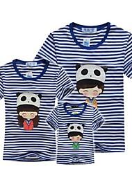 семьи, вся семья с коротким рукавом футболки родства одежды