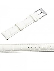 PU Leather Watch Band Strap 18MM (White)