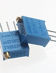 3296 Potentiometer 20kohm Adjustable Resistors - Blue (10 PCS)