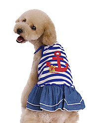 Sailor Design Cotton Dress for Dogs (Assorted Sizes)