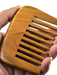 natual gran 9x6.7cm distancia diente peine brasil sándalo verde peine de madera peine de la salud