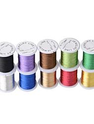jóias diy multi-cores cabo ponto chinês, colar& pulseira cordão (10meters / lote) (multicolor)