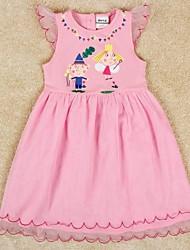 Girl's Cotton/Polyester Dress , Summer Short Sleeve